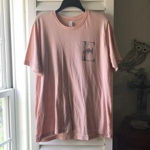 """Light pink """"E"""" tee shirt"""
